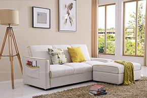 布艺沙发 舒适棉麻 休闲沙发床 小户型多功能沙发组合